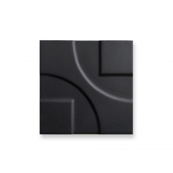15x15 3D Black Matt