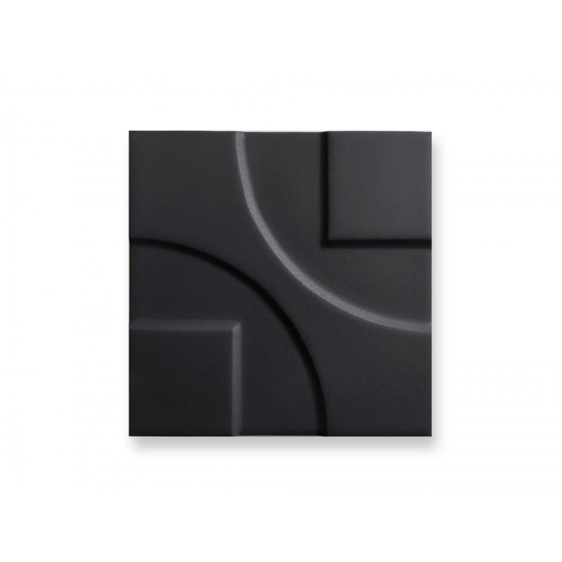15x15 3d black mat