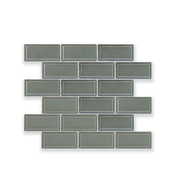 Mosaic B Grey Glossy