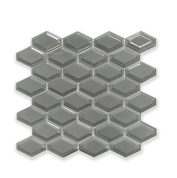 Mosaic R Grey Glossy