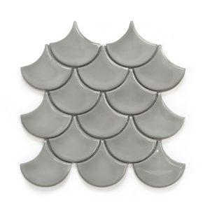 Mosaic U Grey Glossy