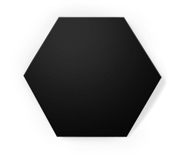 hexagon black mat