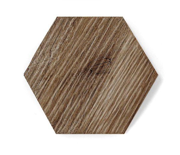 heksagon dark wood matt relief