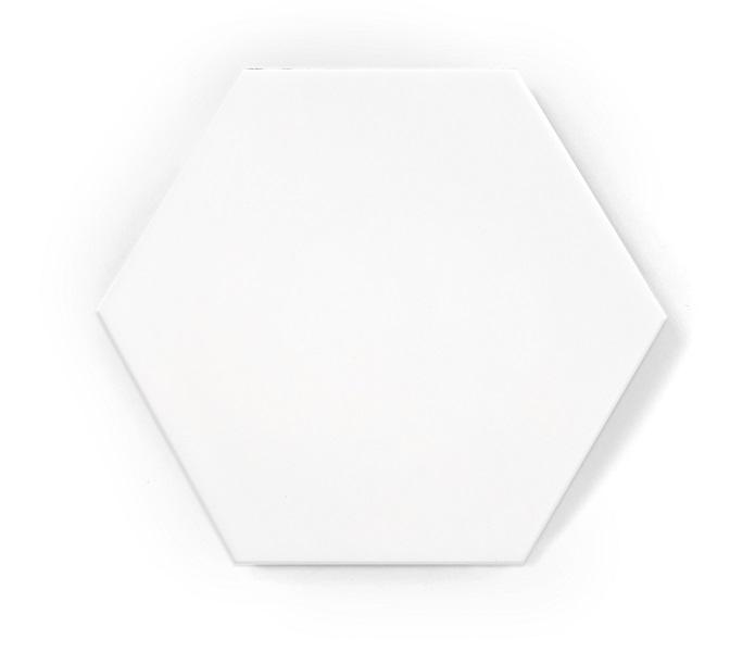 hexagon white mat
