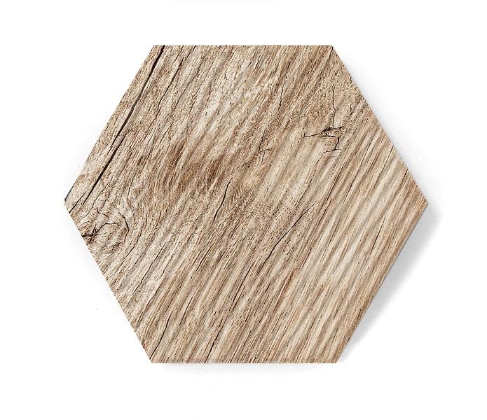 hexagon wood mat relief