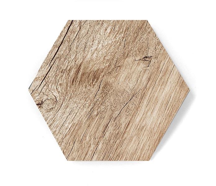 hexagon wood mat