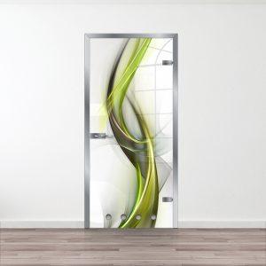 Drzwi Szklane do Łazienki - Wzór GS-1-green