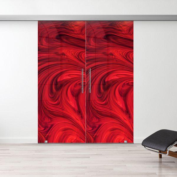 Drzwi Przesuwne Szklane Podwójne - Wzór PP-222 - Antaba