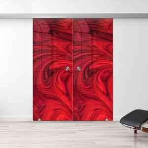 Drzwi Przesuwne Szklane Podwójne - Wzór PP-222 - Muszelka