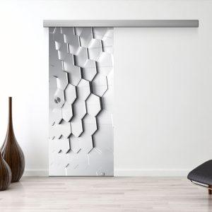 Drzwi Przesuwne Szklane - Wzór GS-06-11 - Muszelka