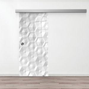 Drzwi Przesuwne Szklane - Wzór GS-06-12 - Muszelka