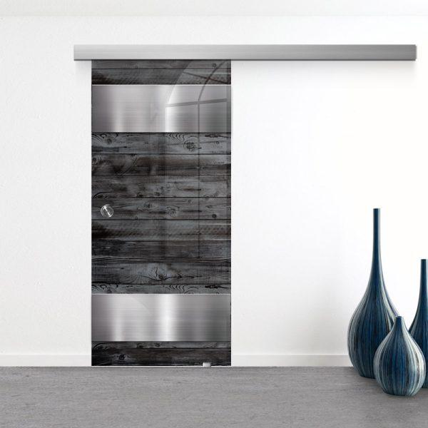 Drzwi Przesuwne Szklane - Wzór GS-301 - Muszelka