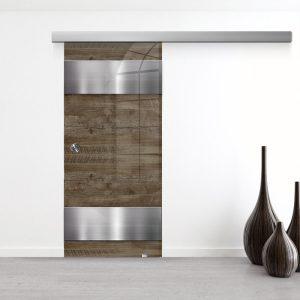 Drzwi Przesuwne Szklane - Wzór GS-304 - Muszelka