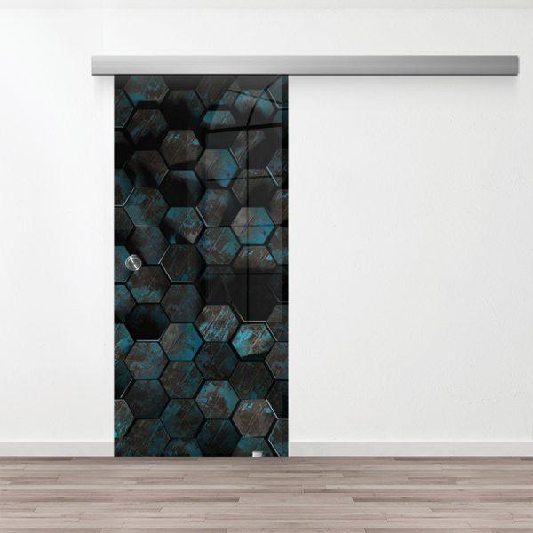 Drzwi Przesuwne Szklane - Wzór GS-76 - Muszelka