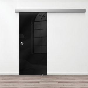 Drzwi Przesuwne Szklane - Wzór GS-czarny - Muszelka