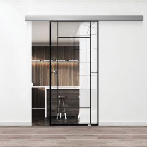Drzwi Loftowe - Podgląd - Wzór loft-13 - Przezroczyste