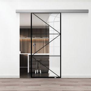 Drzwi Loftowe - Podgląd - Wzór loft-18 - Przezroczyste