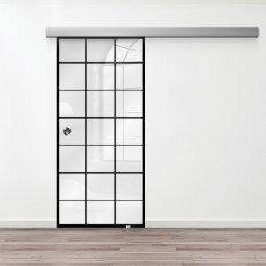Drzwi Szklane Loftowe - Wzór loft-19 - Białe - Muszelka