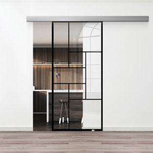 Drzwi Loftowe - Podgląd - Wzór loft-20 - Przezroczyste