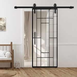 Drzwi Loftowe - Podgląd - Wzór loft-K-01 - Przezroczyste - Antaba