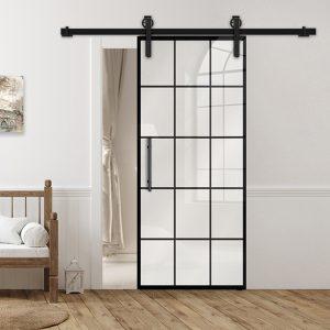 Drzwi Loftowe - Podgląd - Wzór loft-K-08 - Białe - Antaba