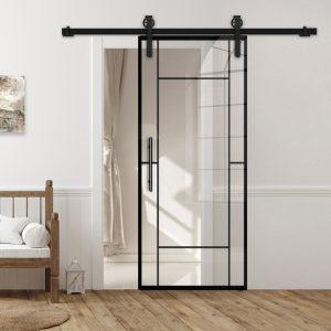 Drzwi Loftowe - Podgląd - Wzór loft-K-13 - Przezroczyste - Antaba