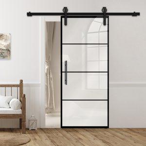 Drzwi Loftowe - Podgląd - Wzór loft-K-16 - Białe - Antaba